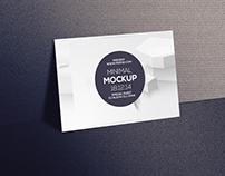 Free Postcard & Invitation Mockup Psd