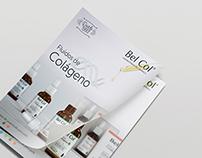 Folder e Anúncio Fluídos de Colágeno Bel Col