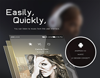 Android 5.0 Music UXUI Concept