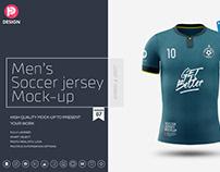 Men's Soccer Jersey Mockup V7
