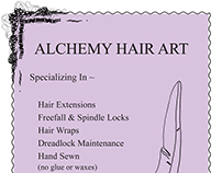 Alchemy Hair Art Folk Festival Poster
