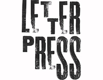 Letterpress product sample #1