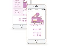 UI - UX Interface Design -Ice Cream -Christina Filippou