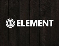 T-shirt graphics for ELEMENT SKATEBOARDS.