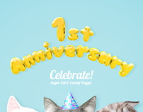 Sugar Cat's 1st Anniversary