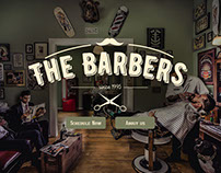The Barbers UI/UX One Page Site