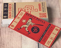 Retro Ticket / Business Card