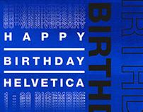 Happy Birthday Helvetica - Posters