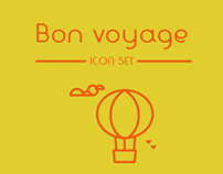 Bon voyage- Icon set