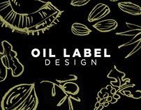 Epicure Oil label design