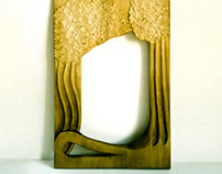 MIRROR FRAME / woodcarving