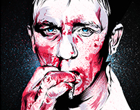 Daniel Craig bloody smoking