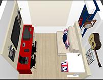 PROJETO: escritório e quarto de hóspedes