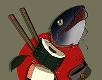 Sushi Slices | Illustration