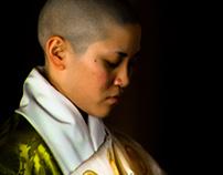 Monk and Nun of Zojoji Temple, Tokyo