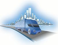 Video advertisement cargo service