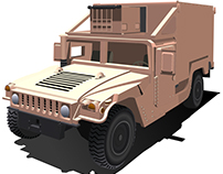 Army Items Vector Drawings