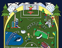 Seattle Sounders FC Official opening Match Day Poster