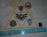 Legend of Zelda Cross Stitch Process