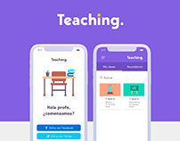 Teaching App - UI / UX Design