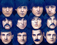 Dream Gigs Illustrated - The Beatles&Pink Floyd&Queen