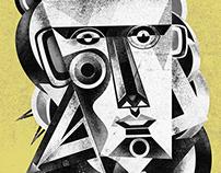illustrations. facemasks.