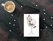 Bond Illustration Holiday Cards 2016