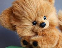 Design of pomeranian dog toy 2012