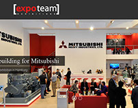 Expo team Stand building for Mitsubishi ad