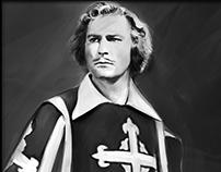 Errol Flynn - The Musketeer (digital painting )