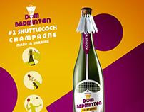 Dom Badminton #1 shuttlecock champagne design