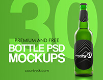 30 Premium and Free Bottle PSD MockUps