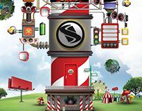 Stomp - EDM Poster Designs