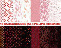 16 Red Seamless Star Patterns
