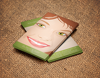 Illustrated dental business cards