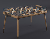 Giorgetti MINUTO Football table Low-poly 3D model