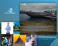 Single page web design for yacht refinishing company