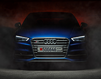 Sepang Blue Audi S3 - Front shot