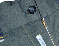Garment: Extended hem Trousers in Suiting