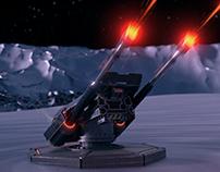 3D Sci-Fi Laser Turret