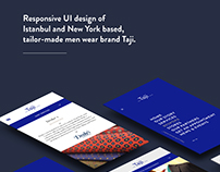 Taji Corporate Website UI Design