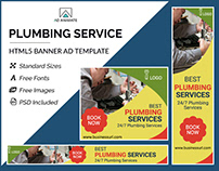 Plumbing Service Banner - HTML5 Ad Template