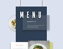 Сreative menu