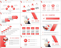 34+ red business lowpoly powerpoint templates