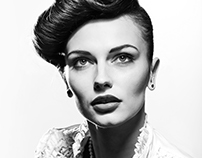 Old style fashion portrait from 2012