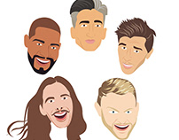 """The Fab 5 from """"Queer Eye"""""""