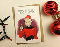 Nerdy Holiday Greeting Cards