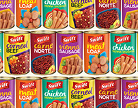 Swift Canned Meat Labels