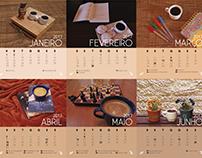 Calendário 2017 - Tema Café