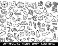FREE FOOD ILLUSTRATION VECTOR_BUNDLE